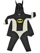 NEW SIZE 2~10 KIDS COSTUME BATMAN OUTFIT BOY DRESS UP PARTY TODDLER SUPERHERO