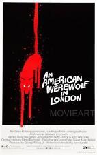 Un loup-garou américain à londres vintage movie poster affiche film A4 A3 art print cinema