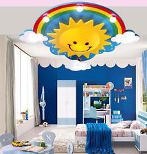 Sun Rainbow LED Ceiling Light Pendant Lamp Lighting Kid Child Bedroom livingroom