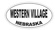 Western Village Nebraska Oval Bumper Sticker D7115 Euro Oval