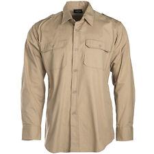 TROPENHEMD LANGARM khaki beige S-3XL, Safarihemd sand 1 1 Arm Ripstop  Baumwolle 1ebe27f8a8