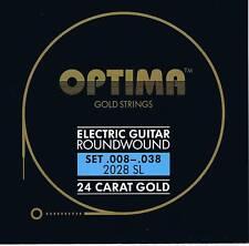 Optima/Maxima  24K Gold Electric Strings 8-38