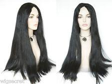 Mortisha Long Blonde Grey Brunette Red Straight Costume Wigs