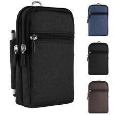 Universal Cellphone Waist Bag Belt Clip Zipper Pouch For Apple iPhone X / 8 Plus