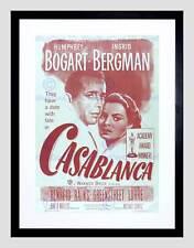 L'annuncio del film pellicola Casablanca Bogart Bergman classico di culto Framed Art Print b12x5046