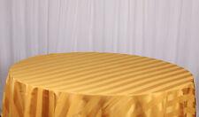 rayé nappes 229CM x 229cm taille Bande de satin décor vaisselle Marriage