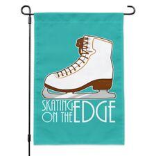 Ice Skates Figure Skating Living On The Edge Garden Yard Flag