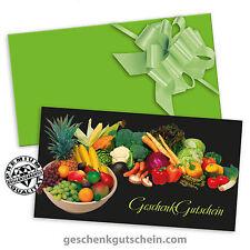 Gutscheine mit Kuverts und Schleifen für Obst- und Gemüsehändler OG1230