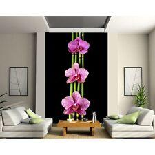 Stickers géant déco : Orchidée Bambous 1322