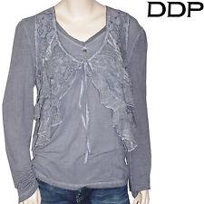 DDP Tee Shirt manches longues avec gilet sans manche gris femme