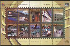 VENEZUELA 2005 Servizi postali/FURGONI/CAMION/MOTO/Moto/piano 10v Sht n34563