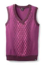 Women's Oakley Golf Top Hill Sweater Vest Blue Black White Purple Green S M L XL