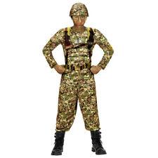 SOLDAT KOSTÜM KINDER Karneval Fasching Armee Uniform Tarnanzug Agent Jungen 0390