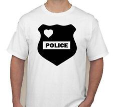 police love vest badge cops protect serve shirt t-shirt