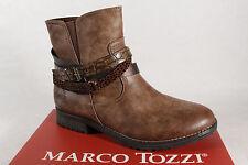 Marco Tozzi 46402 Stivali da Donna, Stivaletti, Stivali Marrone Nuovo!