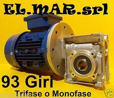 Motoriduttore 93 Giri HP 0,5 Riduttore di giri Motore Monofase Trifase Kw 0,37