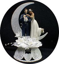 Policeman Wedding cake topper Groom top Bride 3 skin tone Cop Police interracial