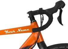 2 x Personalised Name Bike Frame Vinyl Stickers Cycle Bicycle Frame
