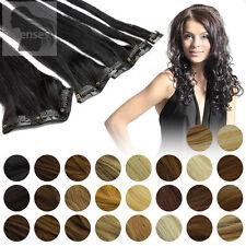 45cm, 60cm, Clip In Extensions Remy Echthaar Haarverlängerung Haare 5 Tressen