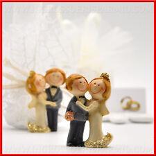 Bomboniere matrimonio statuine coppia sposi assortite idea originale 2018