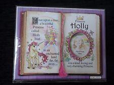 Holly Princess UNICORNO Mount Regalo Con Versetto e foto spazio-scegliere una cornice