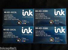 Series 30XL,30 XL 2 x Black & 2 x Col Cartridges Compatible With Kodak Printers