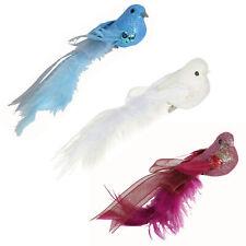 Premier Christmas Decoration 12cm 4 Pack Clip on Birds - Choose Colour