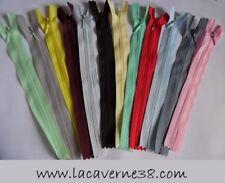 Fermeture éclair invisible 20 cm couleurs au choix mercerie couture