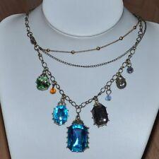 Collar Cadena turquesa Barroco Estilo Antiguo Collar De Diamantes De Imitación