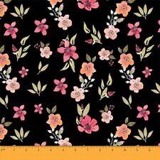 Soimoi Fabric Leaves & Primrose Floral Print Sewing Fabric meter - FL-646A