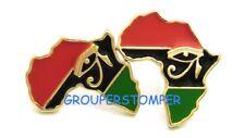 Africa With Eye of Horus Post Style Pierced Stud Earrings
