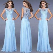 Chiffon Sommerkleid Abendkleid Ballkleid Partykleid Spitze Kleid  S-2XL BC266