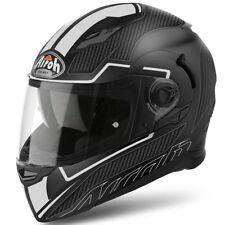 AIROH mouvement S PLUS VITE blanc mat casque moto avec Pinlock et visière