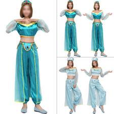 Aladdin Princess Jasmine Suit Cosplay Dress Costume Halloween Xams Adult / Kids