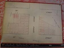 1850s Kips Bay Second Ave 38 39 Streets New York City Manhattan Hand Drawn Map