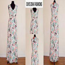 SAVOIR Chiffon Floral Printed Maxi Dress Sizes 14, 16, 18