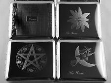 Zigarettenetui mit Diamantgravur verschiedene Motive teils mit Ihrem Namen