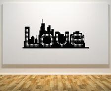 Amour Signe De La Ligne D'horizon Devise Citation Thème Décoration Mur Porte