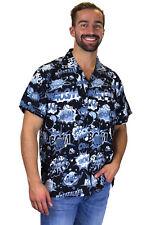 Funky Chemise Hawaïenne Boom Bang Comic Mono Noir Différentes Tailles