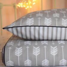 GREY BEDDING 100% COTTON Single Bed Duvet Cover Set Girls Boys  ARROWS STRIPES