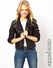 Women Leather Jacket Soft Solid Lambskin New Handmade Motorcycle Biker S M # 11