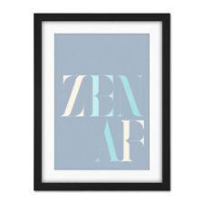 Zen AF Pacifique Pastel Typographie Framed Wall Art Print 18X24 dans