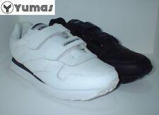 Deportivo velcro Yumas piel color Blanco o Negro tallas de 40 a 46