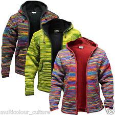 Brand New Men's Tie Dye Fleece Lined Hippy Jumper Festival Winter Hippie Jacket