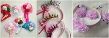 Ragazza Cerchietto con fiori di raso perla rosa Hairband