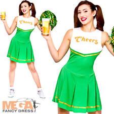 CIN CIN Cheerleader Ragazze Costume S. Patrizio Verde Da Donna Costume per adulti
