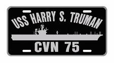 USS HARRY S TRUMAN CVN 75 License Plate Military USN 001