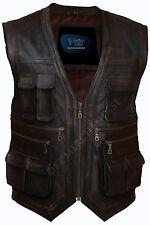 Jurassic World Chris Pratt Owen Grady Leather Vest- Money Back Guarantee