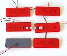 6 pcs 12 VOLT 12V RED SIDE LED REAR TAIL REFLECTOR MARKER LIGHT VAN BUS