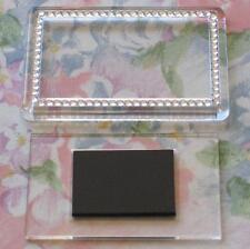 2x Blank Silver Gemstone Acrylic Magnets 81x55mm Frame Size & 70x45mm Photo Size